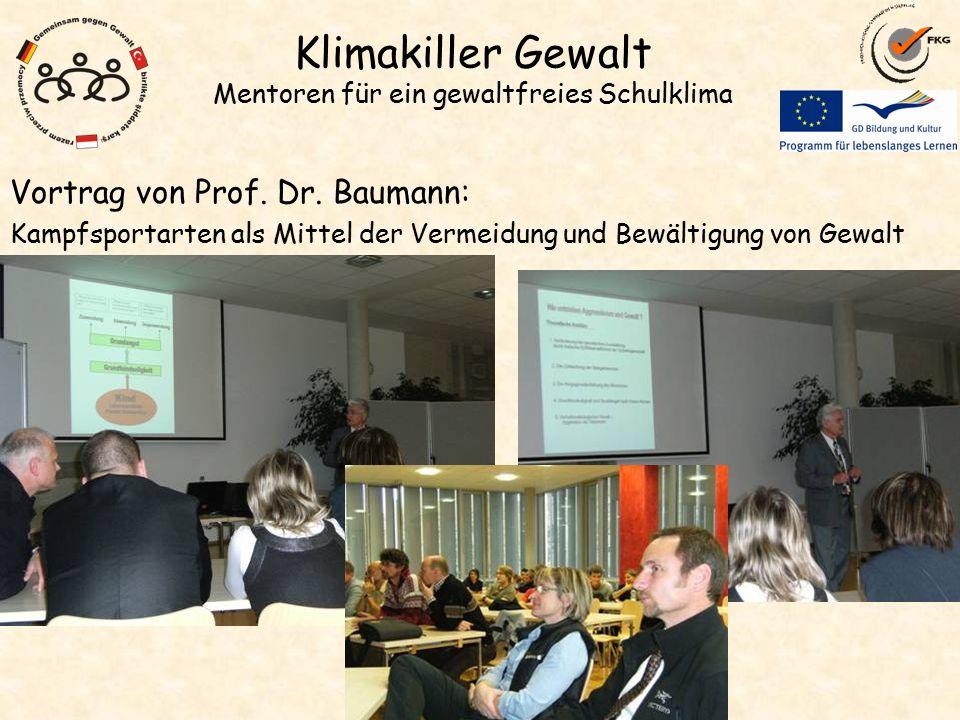 Klimakiller Gewalt Mentoren für ein gewaltfreies Schulklima Vortrag von Prof.