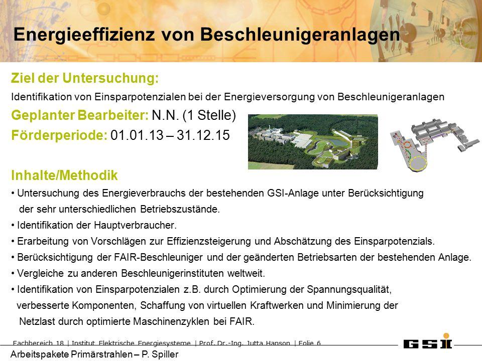Arbeitspakete Primärstrahlen – P.Spiller Transverale Feed Back Systeme TUD: Prof.