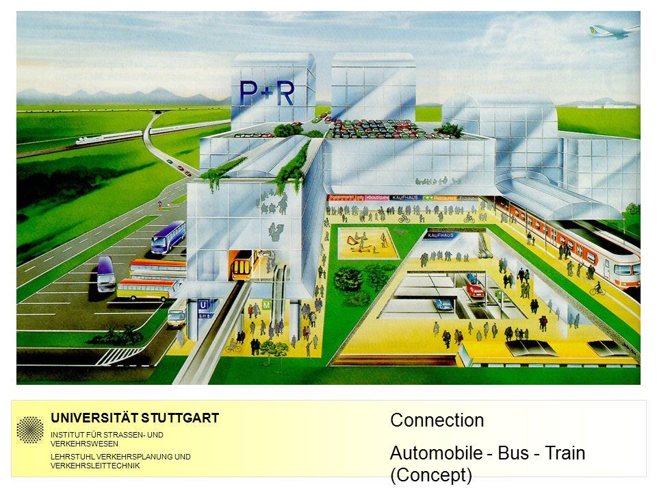 Connection Automobile - Bus - Train (Concept) UNIVERSITÄT STUTTGART INSTITUT FÜR STRASSEN- UND VERKEHRSWESEN LEHRSTUHL VERKEHRSPLANUNG UND VERKEHRSLEI