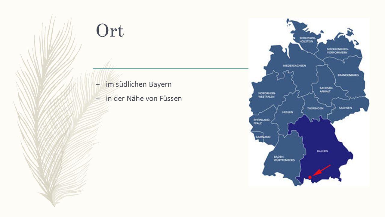 Ort – im südlichen Bayern – in der Nähe von Füssen