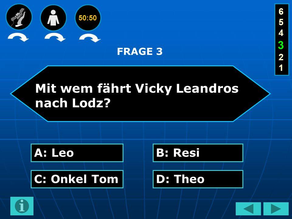 50:50 Mit wem fährt Vicky Leandros nach Lodz.