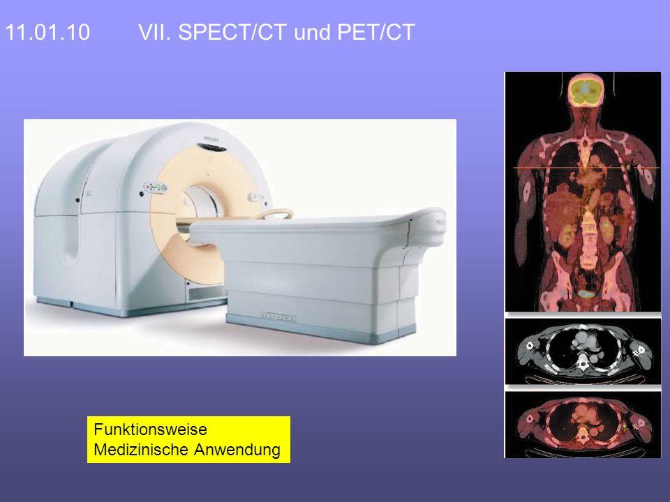 Funktionsweise Medizinische Anwendung 11.01.10VII. SPECT/CT und PET/CT