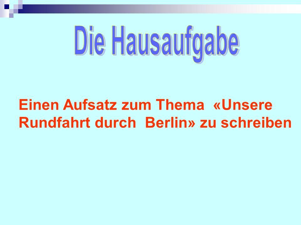 Das Berlin-Kreuzworträtsel W I L L K O M M E N I N B E R L I N