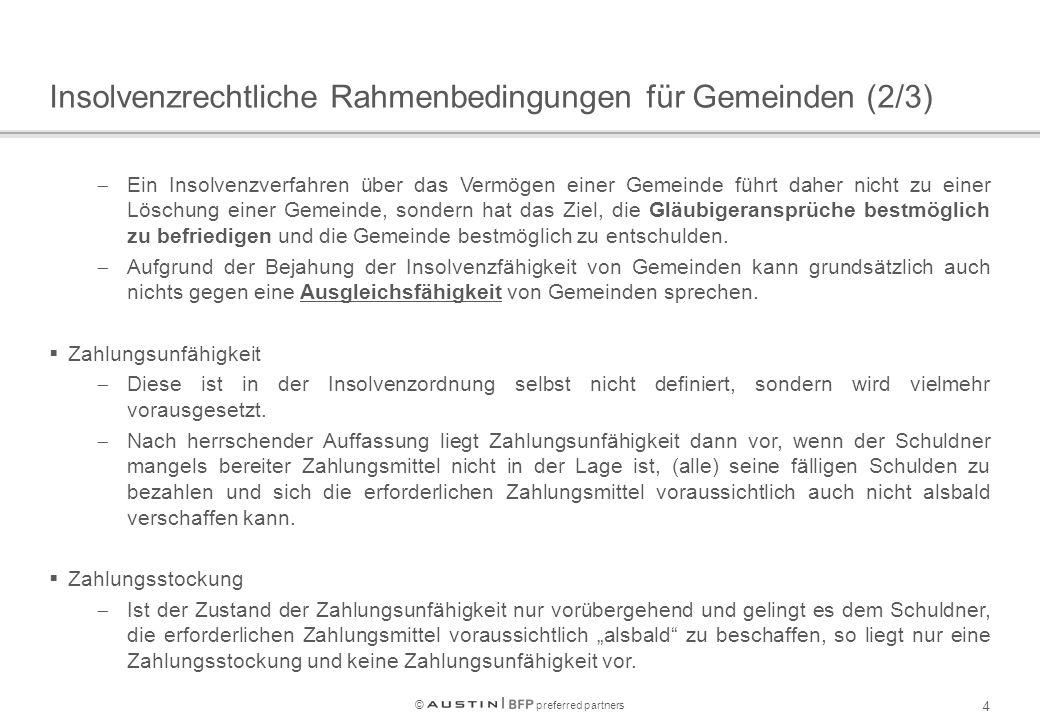 © preferred partners 15 Liquiditätsentwicklung Max.