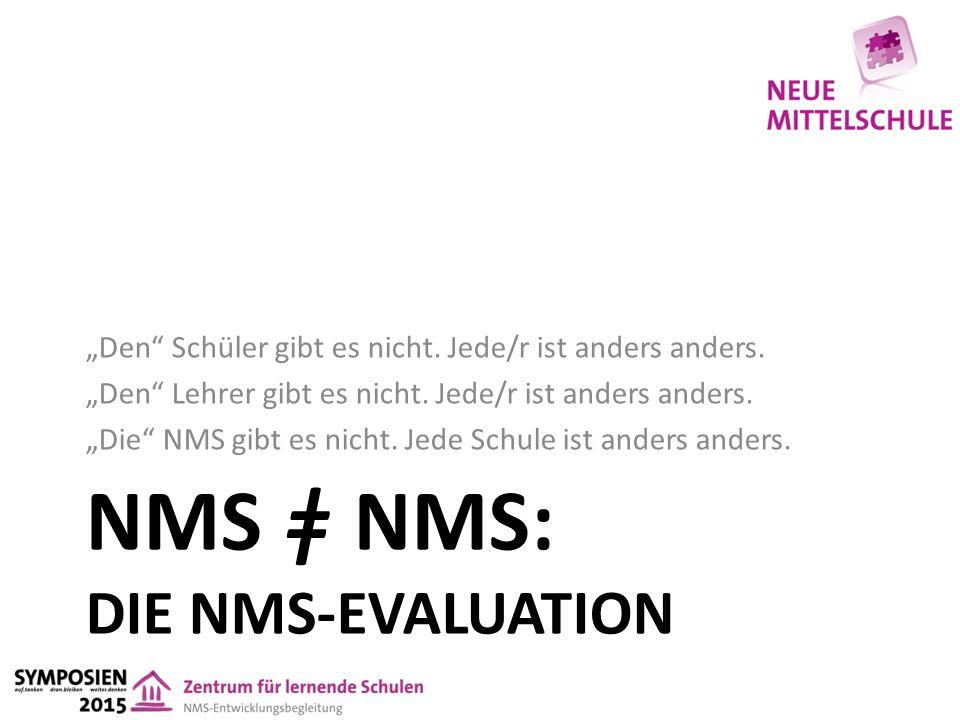 """NMS ǂ NMS: DIE NMS-EVALUATION """"Den Schüler gibt es nicht."""