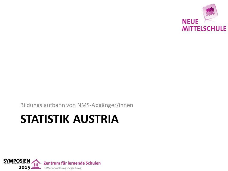STATISTIK AUSTRIA Bildungslaufbahn von NMS-Abgänger/innen