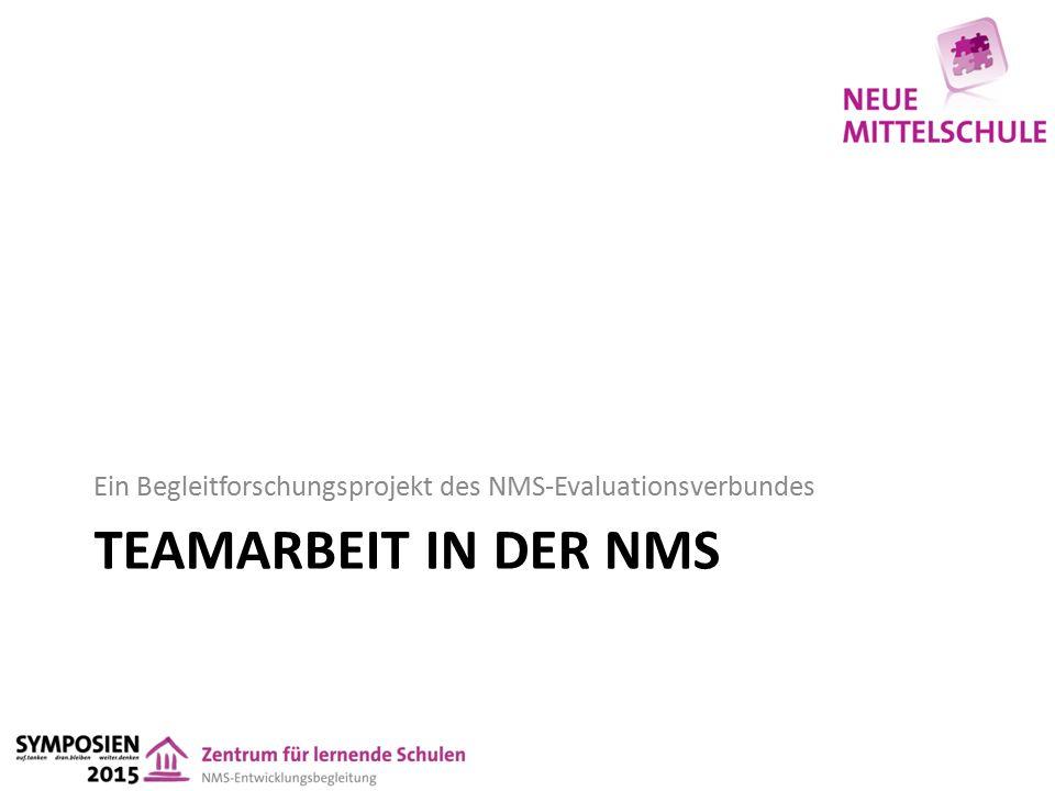 TEAMARBEIT IN DER NMS Ein Begleitforschungsprojekt des NMS-Evaluationsverbundes