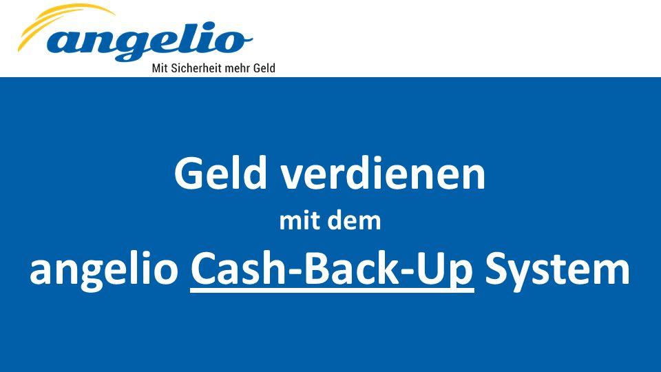 Geld verdienen mit dem angelio Cash-Back-Up System