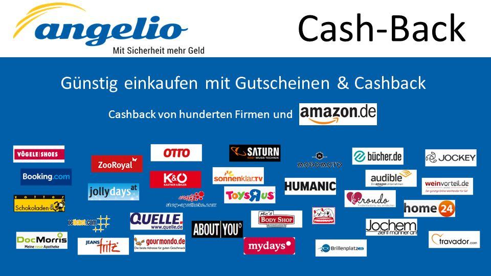 Cash-Back Günstig einkaufen mit Gutscheinen & Cashback Cashback von hunderten Firmen und