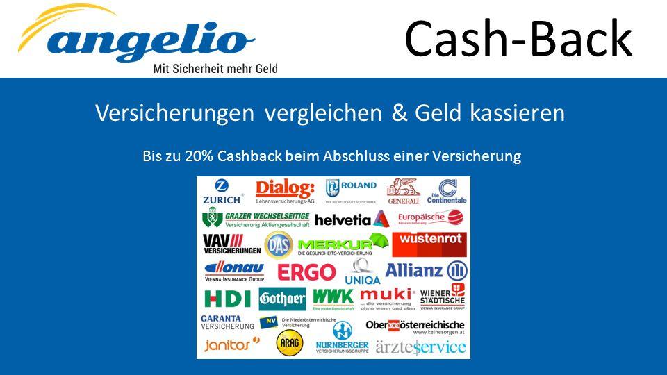 Cash-Back Versicherungen vergleichen & Geld kassieren Bis zu 20% Cashback beim Abschluss einer Versicherung