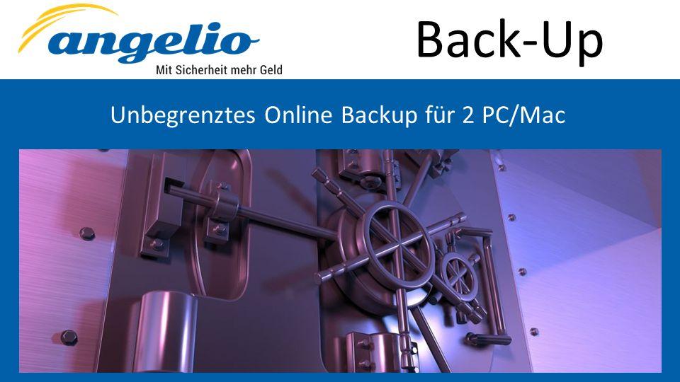 Back-Up Unbegrenztes Online Backup für 2 PC/Mac