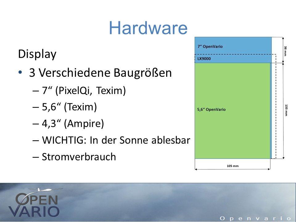 """Hardware Display 3 Verschiedene Baugrößen – 7"""" (PixelQi, Texim) – 5,6"""" (Texim) – 4,3"""" (Ampire) – WICHTIG: In der Sonne ablesbar – Stromverbrauch"""