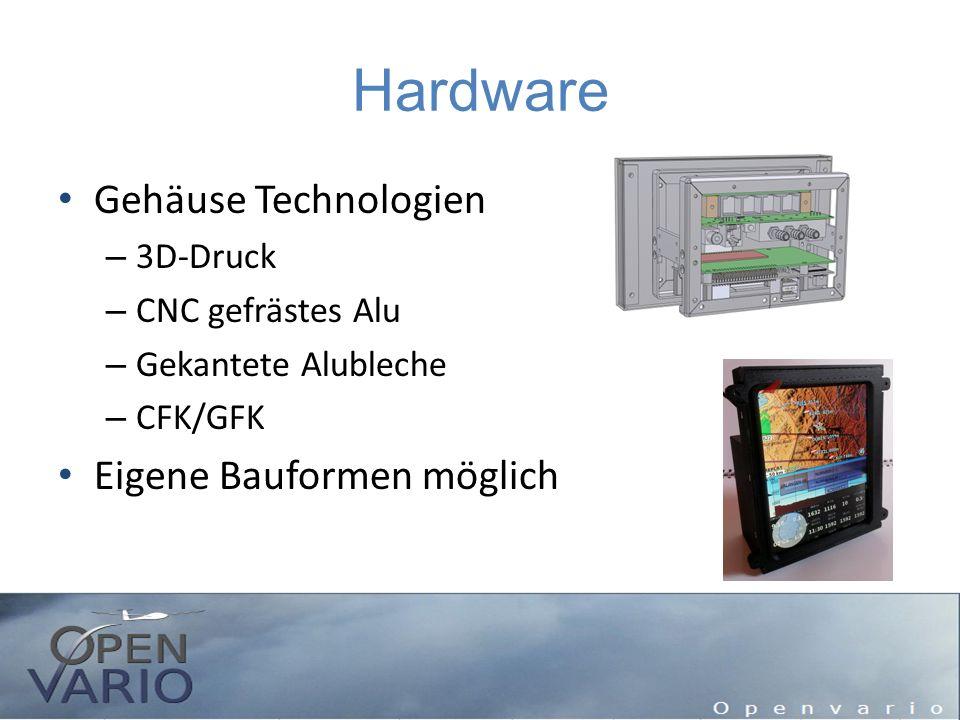 Hardware Gehäuse Technologien – 3D-Druck – CNC gefrästes Alu – Gekantete Alubleche – CFK/GFK Eigene Bauformen möglich