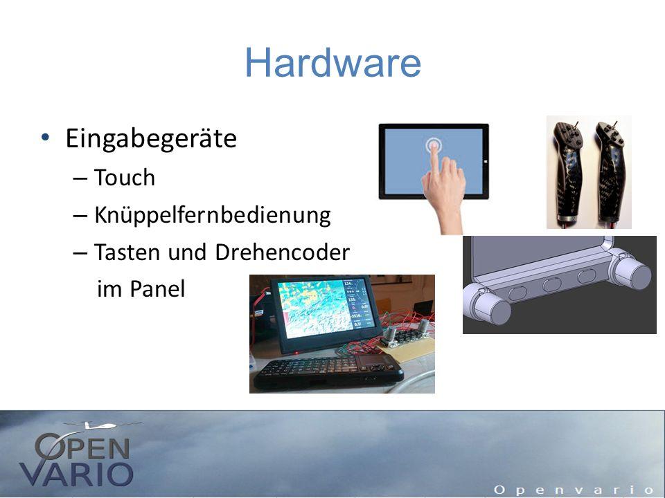 Hardware Eingabegeräte – Touch – Knüppelfernbedienung – Tasten und Drehencoder im Panel