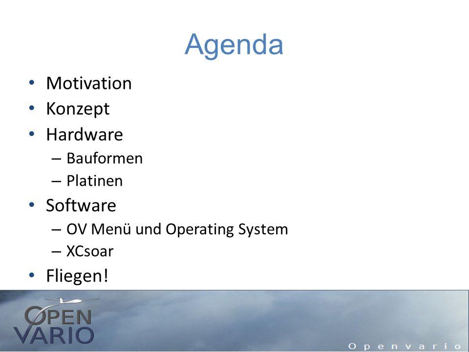 Motivation Warum möchte ich mir ein OpenVario bauen.