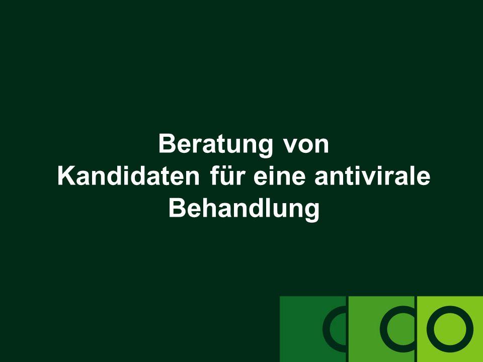 Beratung von Kandidaten für eine antivirale Behandlung