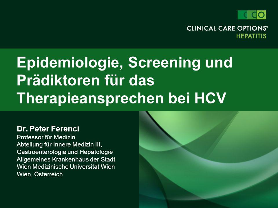 Dr. Peter Ferenci Professor für Medizin Abteilung für Innere Medizin III, Gastroenterologie und Hepatologie Allgemeines Krankenhaus der Stadt Wien Med