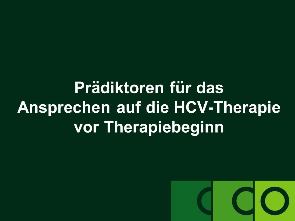 Prädiktoren für das Ansprechen auf die HCV-Therapie vor Therapiebeginn