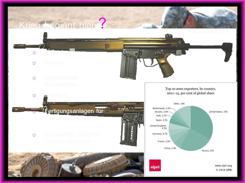 Rüstungsexporte Krieg beginnt hier .