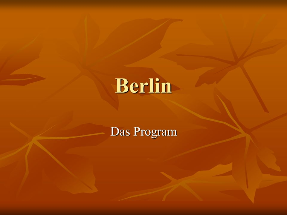 Berlin Das Program