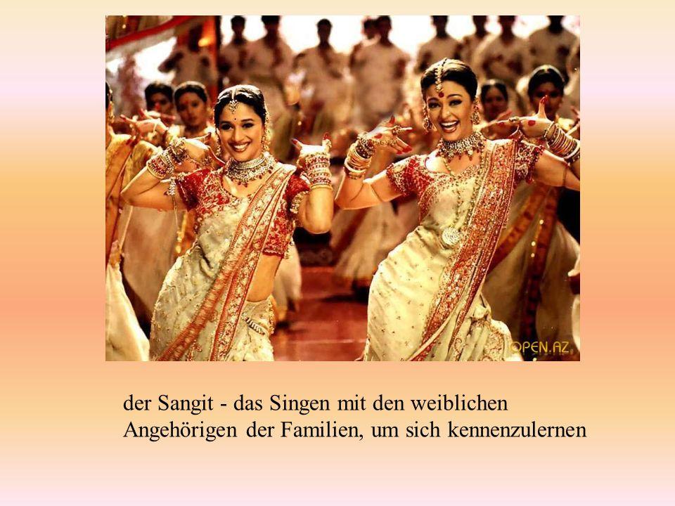 der Sangit - das Singen mit den weiblichen Angehörigen der Familien, um sich kennenzulernen