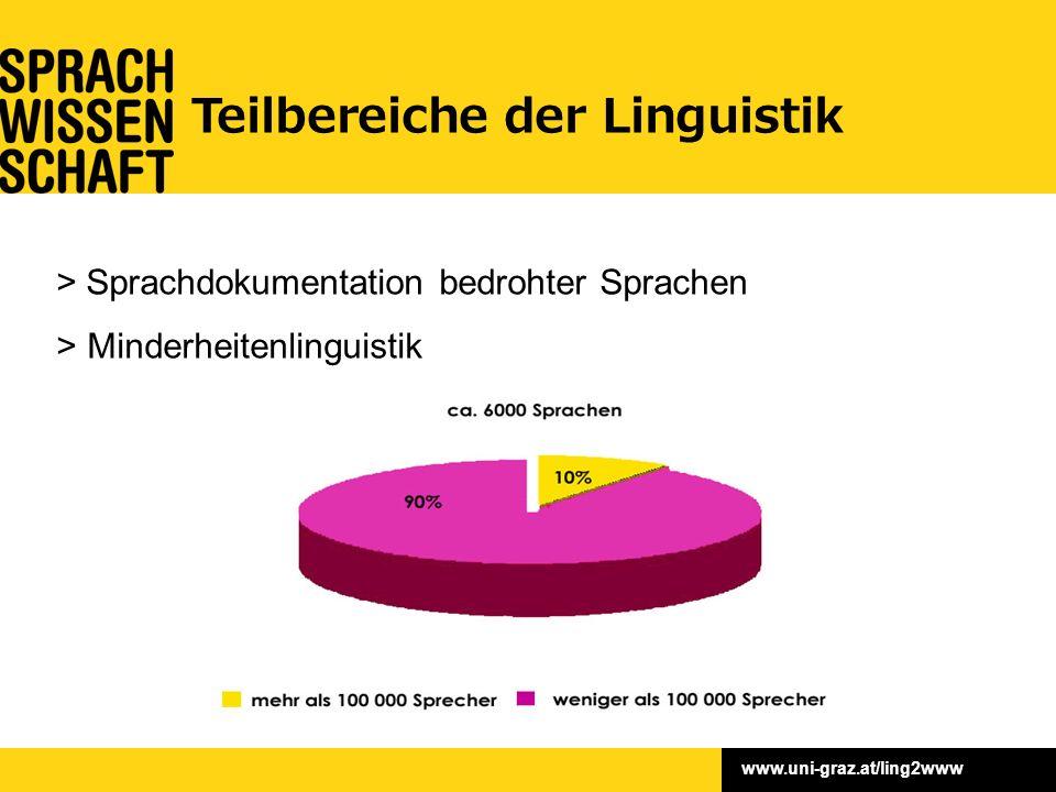 www.uni-graz.at/ling2www > Sprachdokumentation bedrohter Sprachen >Minderheitenlinguistik Teilbereiche der Linguistik