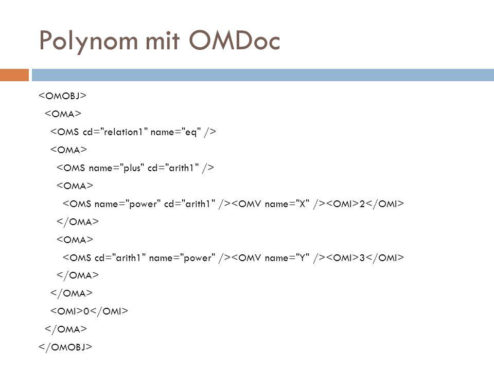 Polynom mit OMDoc 2 3 0