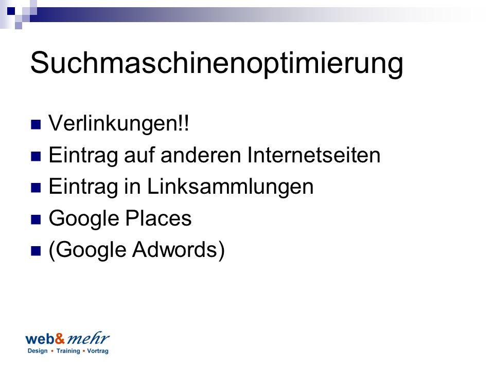 Suchmaschinenoptimierung Verlinkungen!.