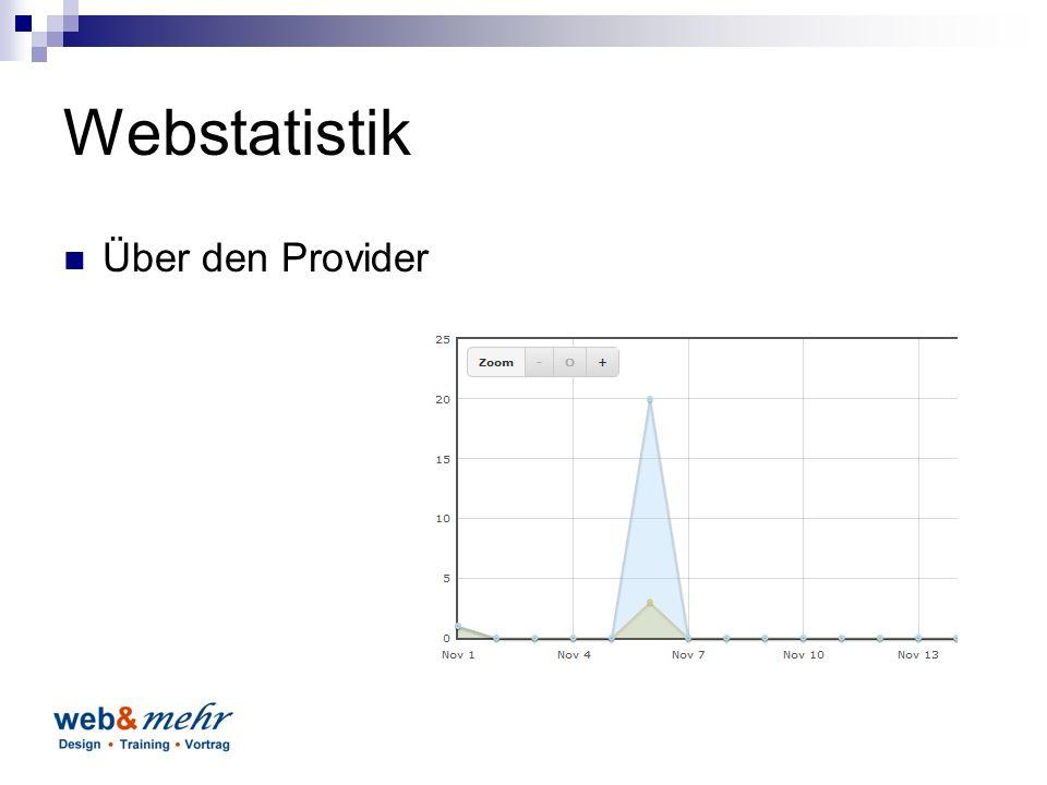 Webstatistik Über den Provider