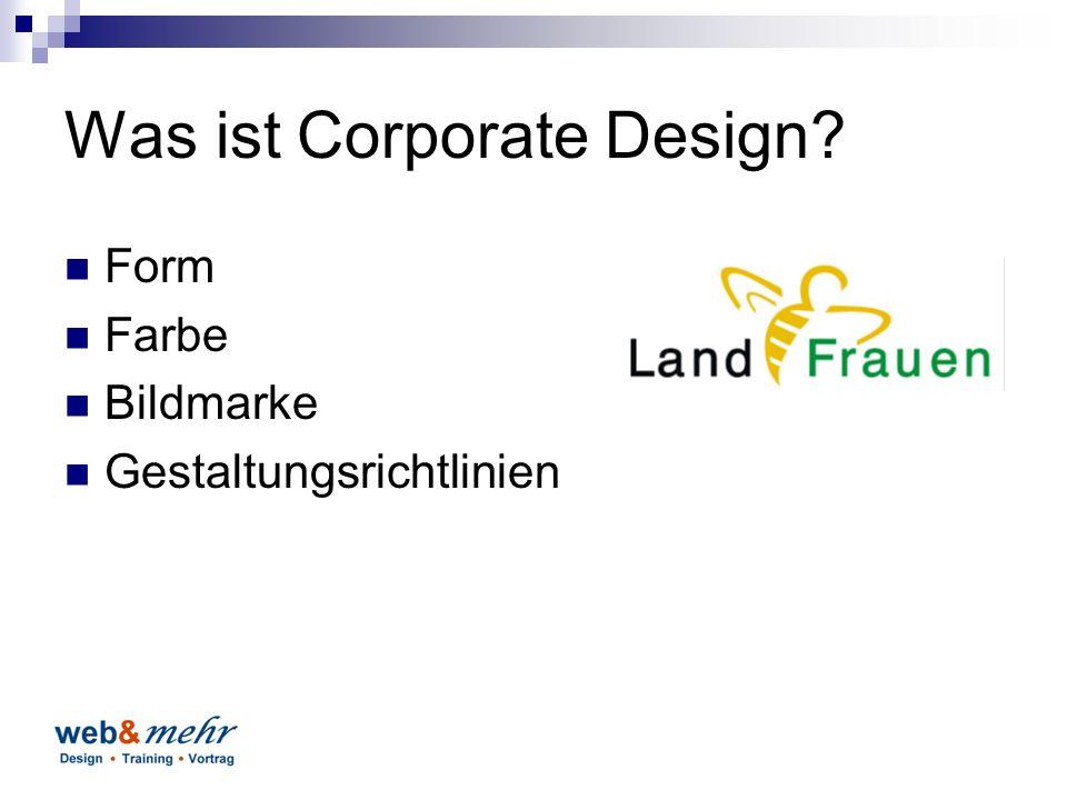 Was ist Corporate Design Form Farbe Bildmarke Gestaltungsrichtlinien