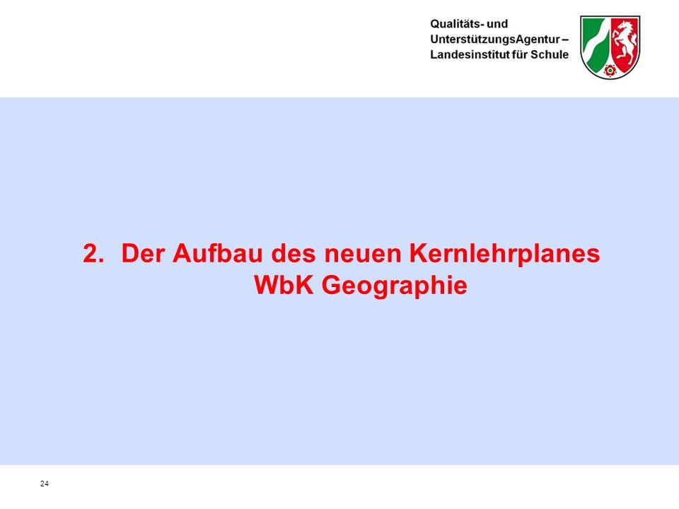 2.Der Aufbau des neuen Kernlehrplanes WbK Geographie 24