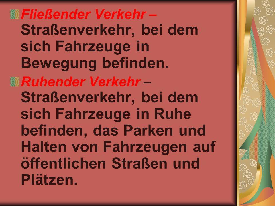 Die Verkehrserziehung – Erziehung zur Verkehrsdisziplin.