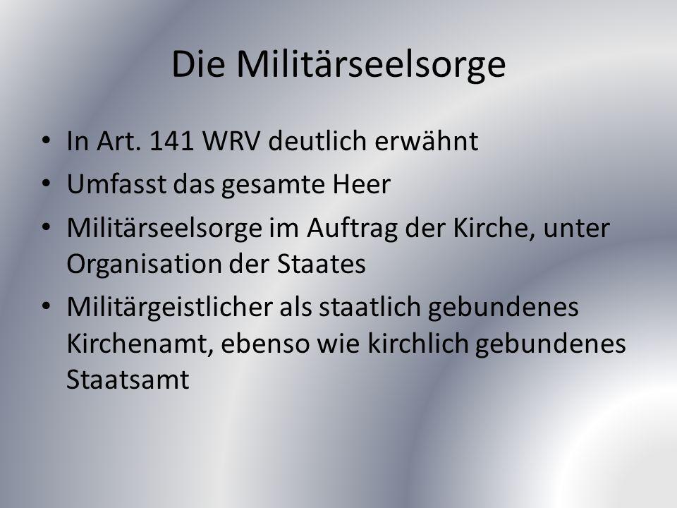 Die Militärseelsorge In Art.