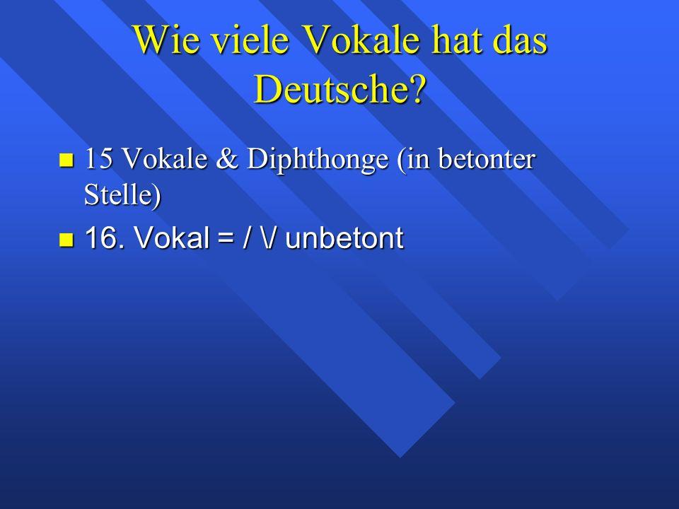 die englischen Vokale Warum beginnt Moulton seine Diskussion der Vokale mit den deutschen und nicht mit den englischen Vokalen.