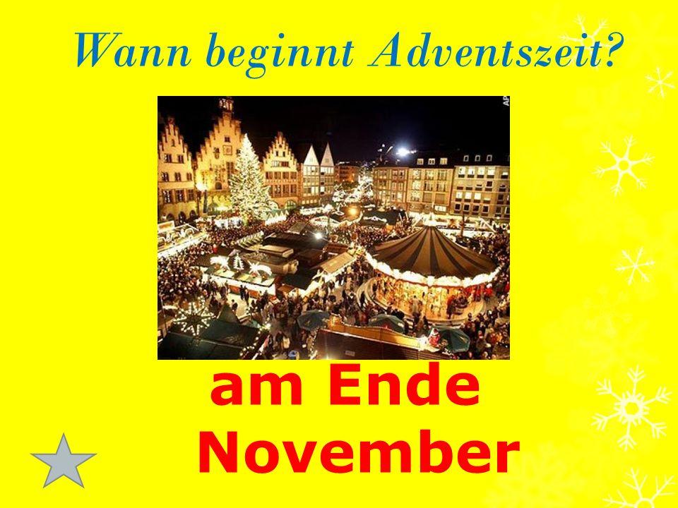Wann beginnt Adventszeit am Ende November