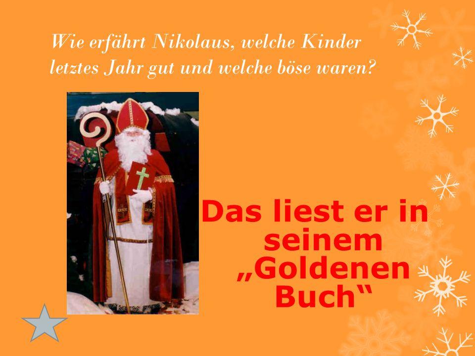 """Wie erfährt Nikolaus, welche Kinder letztes Jahr gut und welche böse waren? Das liest er in seinem """"Goldenen Buch"""""""
