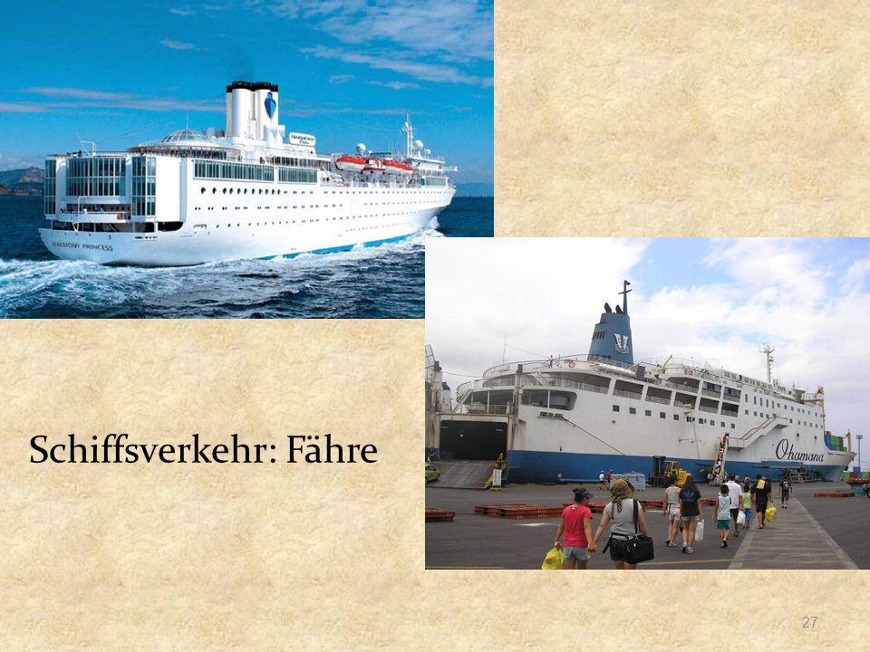 Schiffsverkehr: Fähre 27