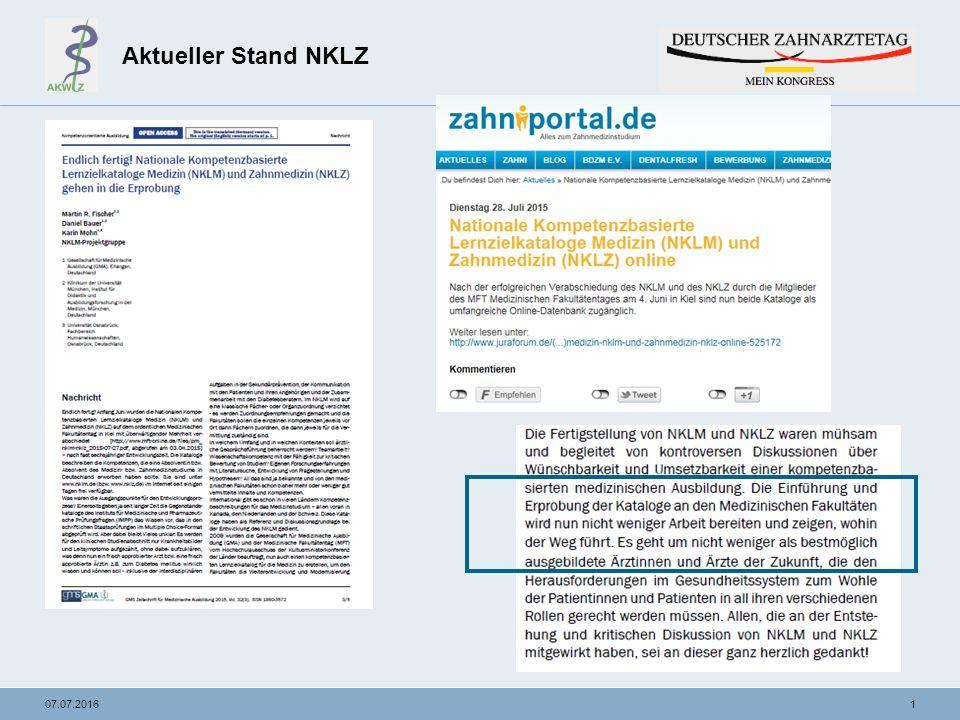 """2207.07.2016 NKLZ- """"from zero to hero Vorgehen am Beispiel Endodontie im Phantomkurs der Zahnerhaltungskunde PD Dr."""