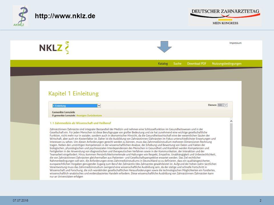 """1307.07.2016 NKLZ- """"from zero to hero Vorgehen am Beispiel Endodontie im Phantomkurs der Zahnerhaltungskunde PD Dr."""