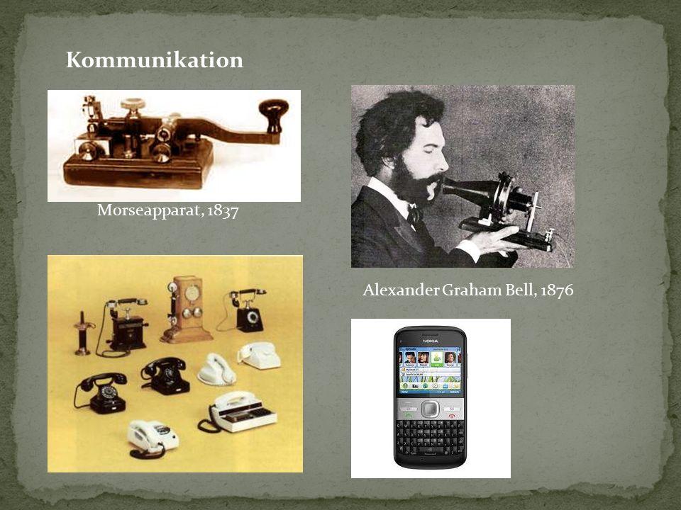 Kommunikation Alexander Graham Bell, 1876 Morseapparat, 1837