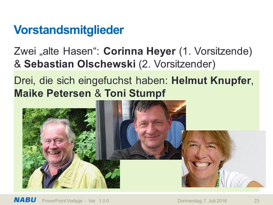 """Vorstandsmitglieder Zwei """"alte Hasen : Corinna Heyer (1."""