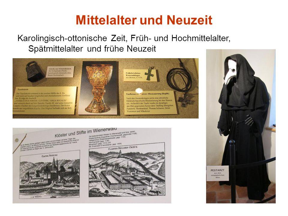 Mittelalter und Neuzeit Karolingisch-ottonische Zeit, Früh- und Hochmittelalter, Spätmittelalter und frühe Neuzeit