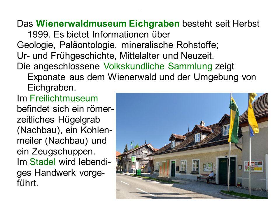 Freilichtmuseum Römerzeitliches Hügelgrab, Kohlenmeiler, Zeugschuppen