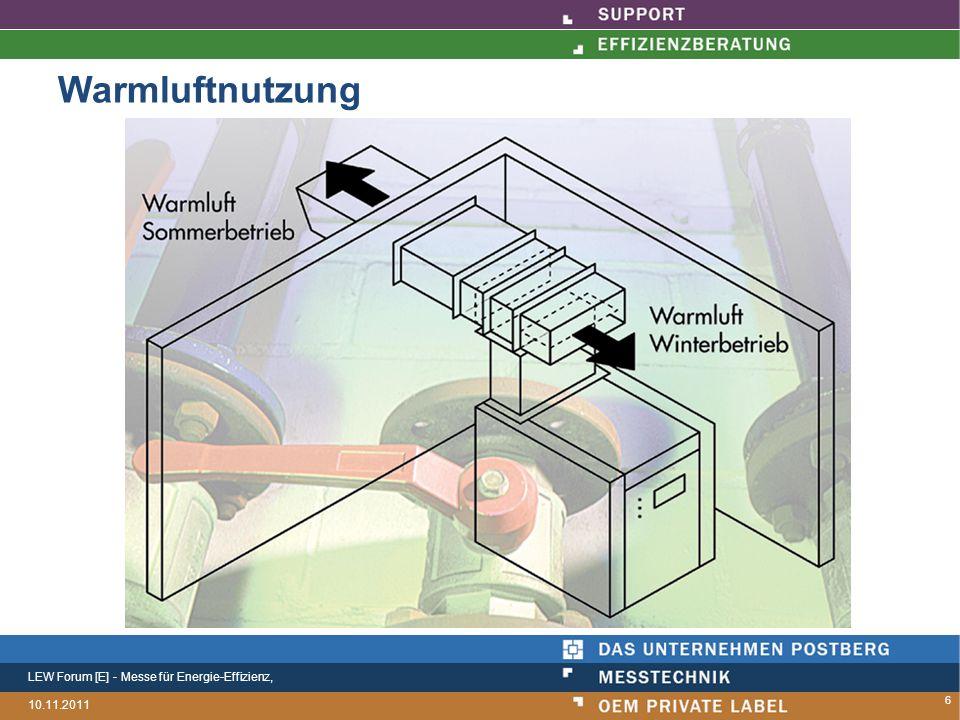 LEW Forum [E] - Messe für Energie-Effizienz, 10.11.2011 Warmluftnutzung 6