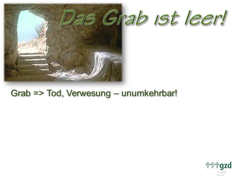 Grab => Tod, Verwesung – unumkehrbar!