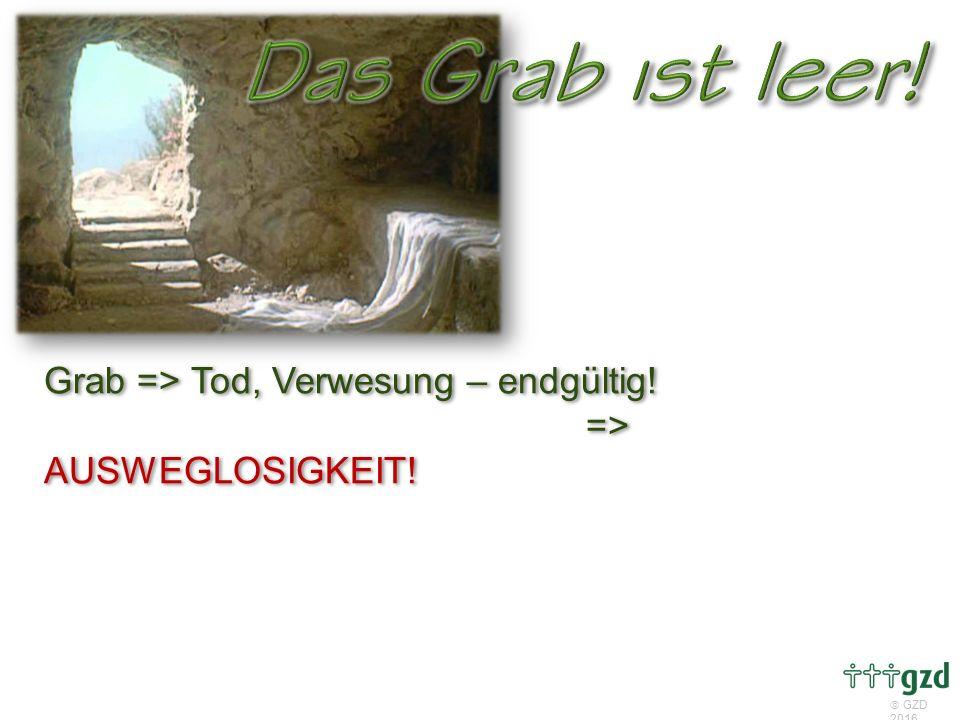  GZD 2016 Grab => Tod, Verwesung – endgültig! => AUSWEGLOSIGKEIT!