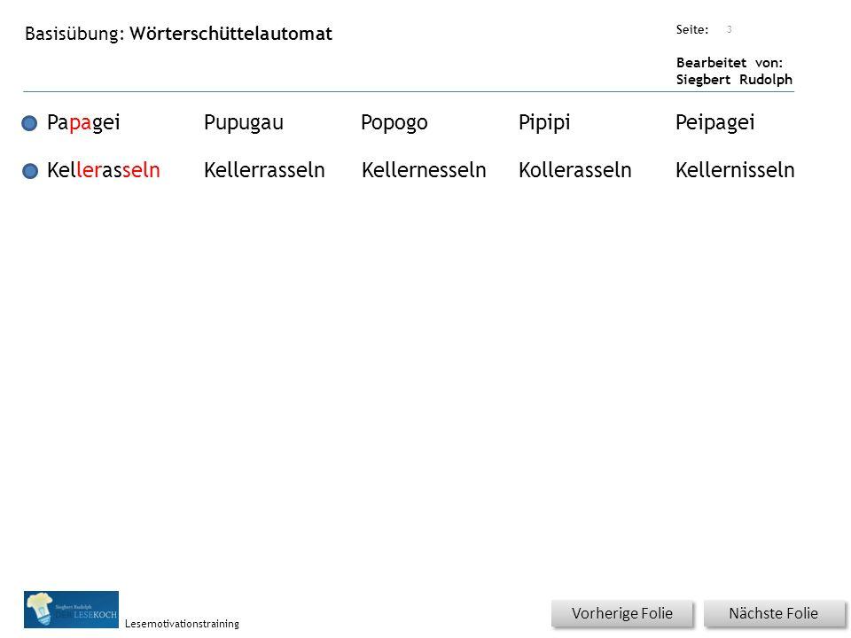 Übungsart: Seite: Bearbeitet von: Siegbert Rudolph Lesemotivationstraining 4 Silbenübung – (Text kann mit Sprint angehört werden.) Für Sprint erst auf Lautsprecher, dann auf Pfeil klicken.