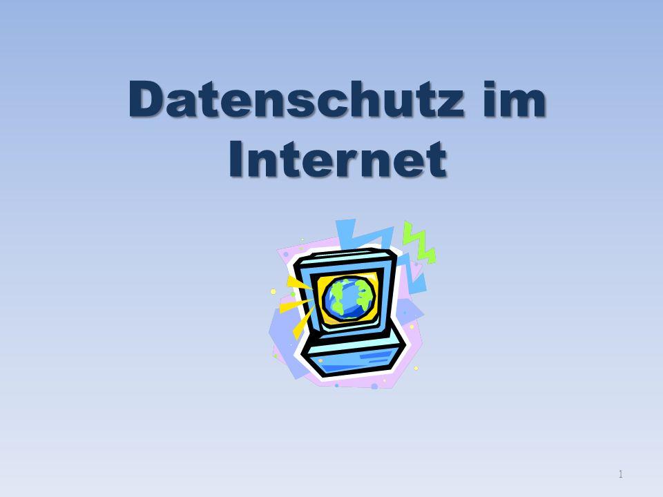 Datenschutz im Internet 1
