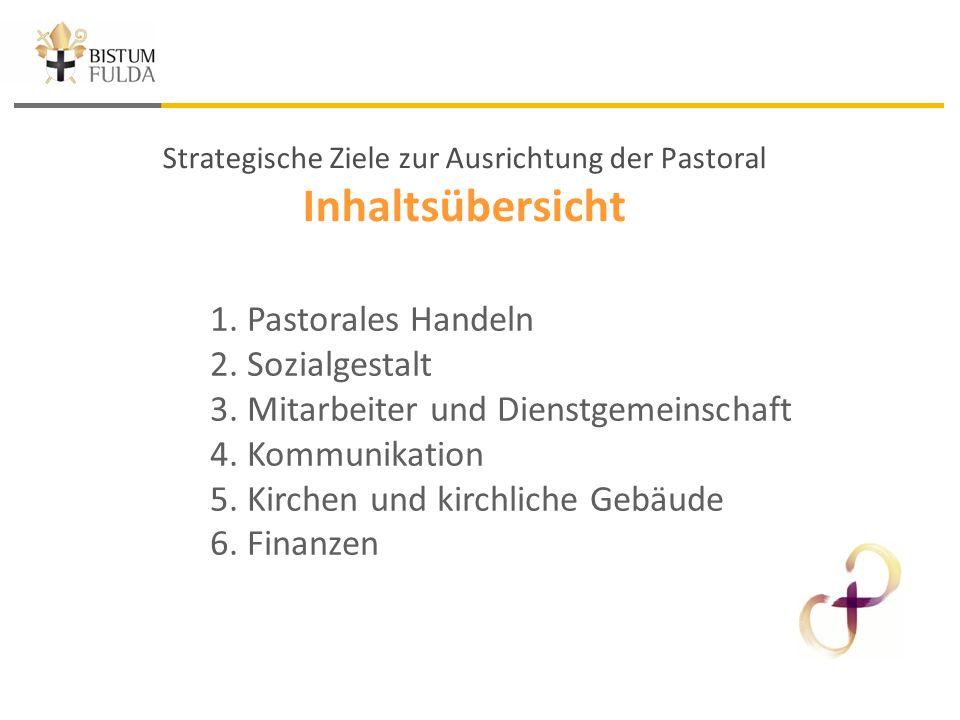 Strategische Ziele zur Ausrichtung der Pastoral Inhaltsübersicht 1.
