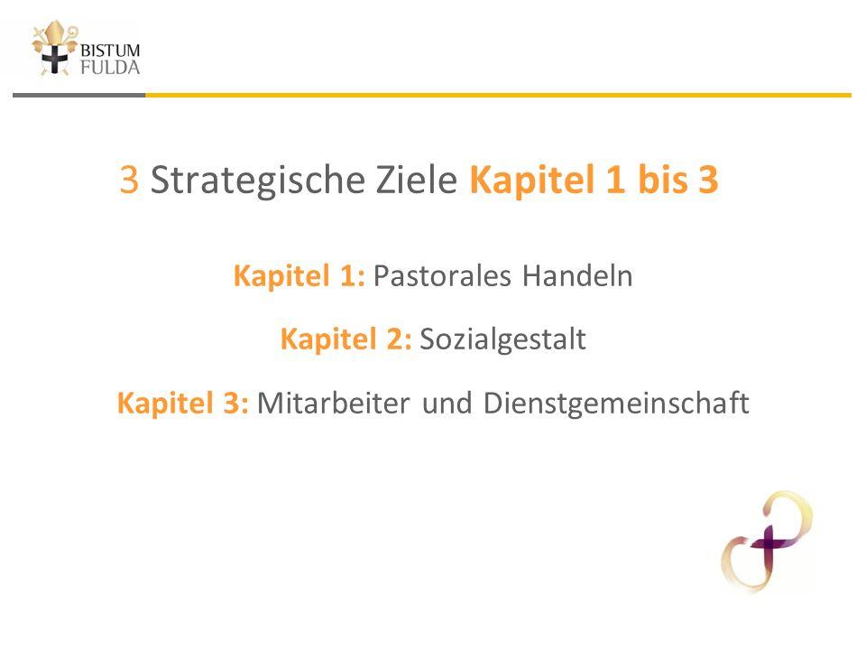 3 Strategische Ziele Kapitel 1 bis 3 Kapitel 1: Pastorales Handeln Kapitel 2: Sozialgestalt Kapitel 3: Mitarbeiter und Dienstgemeinschaft